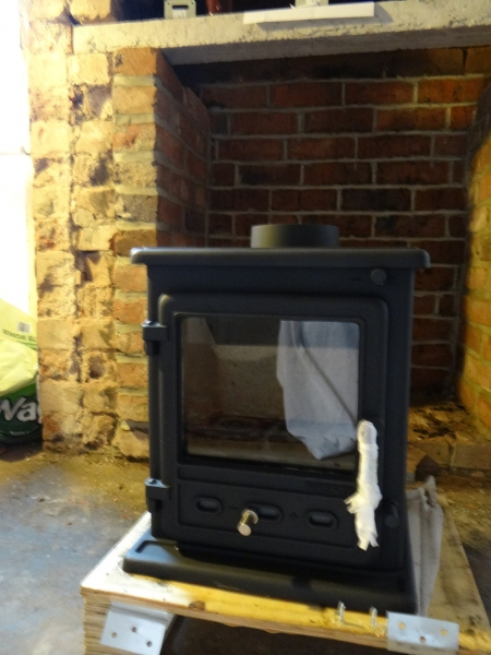 New stove uncrated