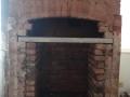Original bricks restored, new brick surround built and lintel in place