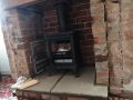 Fire and floating oak lintel installed