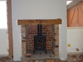 Chimney later plastered